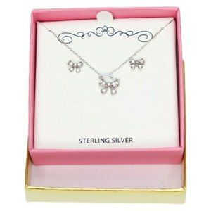Jasco Childrens Sterling Silver Cubic Zirconia Bow